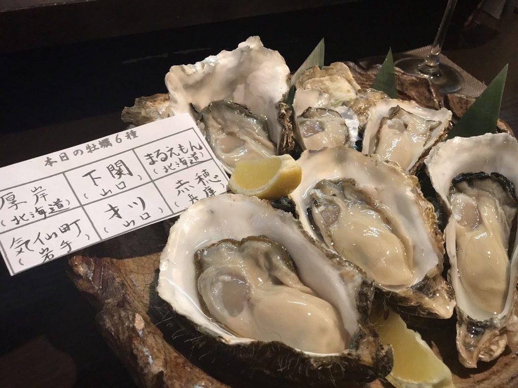 国産の生牡蠣「6種盛合わせ」
