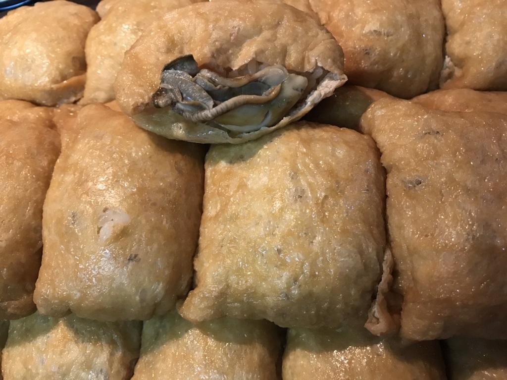 国産牡蠣を使用した牡蠣稲荷
